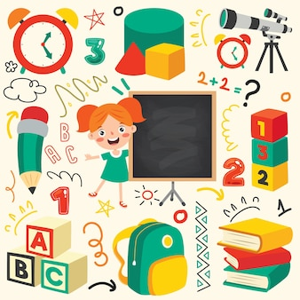 Material escolar para educação infantil