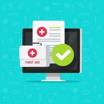 Material médico em tecnologia on-line de computador ou telemedicina