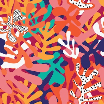 Matisse inspirado formas sem costura padrão