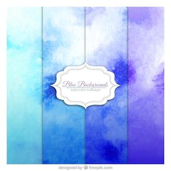 Matiz azuis fundo
