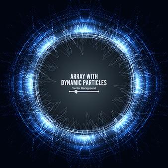Matriz com partículas dinâmicas