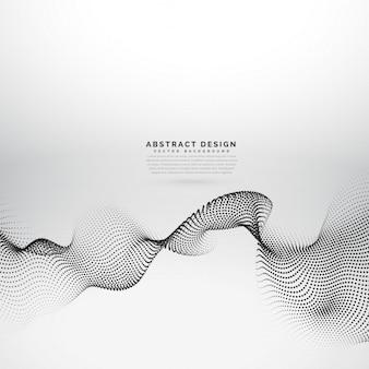 Matriz de partículas de malha 3d no estilo de onda