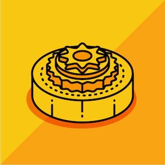 Meados de outono bolo de lua chinesa