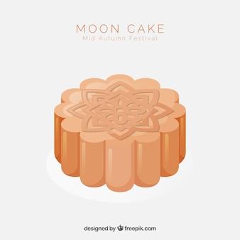Meados de outono festival fundo com bolo de lua