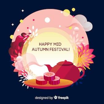 Meados de outono festival fundo