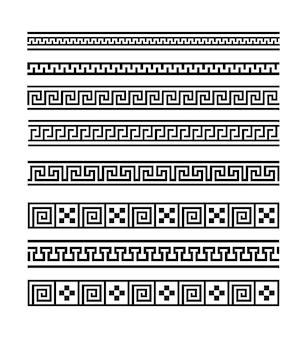Meandro grego. padrão geométrico sem emenda. vetor eps 10.
