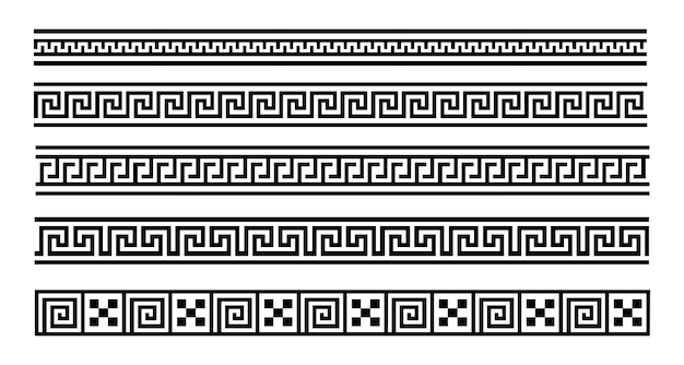 Meandro grego vetor eps 10 de padrão geométrico sem emenda