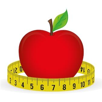 Meça fita e dieta