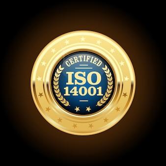Medalha certificada - insígnia de ouro de padrão de qualidade