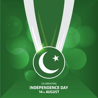 Medalha de fita país bandeira de paquistão