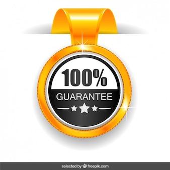 Medalha de garantia de 100%