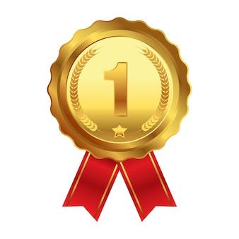 Medalha de ouro de conquista do 1º lugar