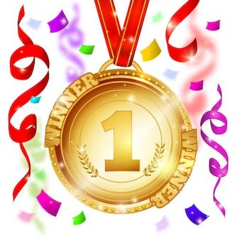 Medalha de vencedor design