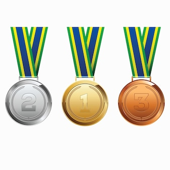 Medalhas com fita