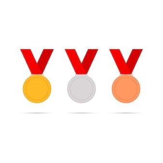 Medalhas defina ícones