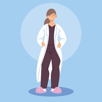 Médica com bata médica