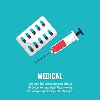Medicação médica seringa cuidados de saúde