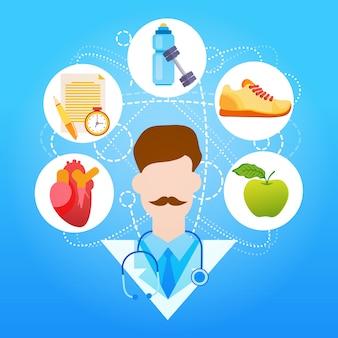 Medical doctor healthy lifestyle vitaminas esporte