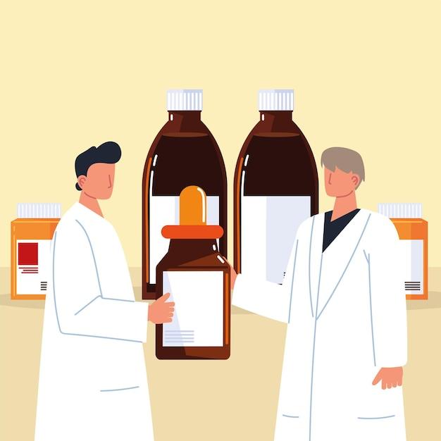 Medicamentos farmacêuticos masculinos