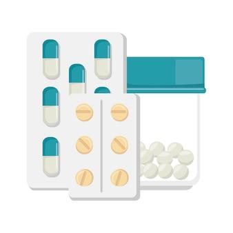 Medicamentos farmacêuticos pílulas de medicação