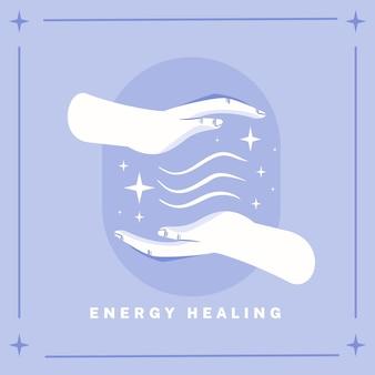 Medicina alternativa de cura energética para mãos
