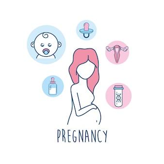 Medicina de fertilização de mulher para reprodução de gravidez