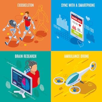 Medicina do futuro, ferramentas e dispositivos médicos de alta tecnologia para dispositivos médicos