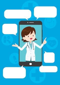Medicina moderna e suporte de sistema de saúde por smartphone