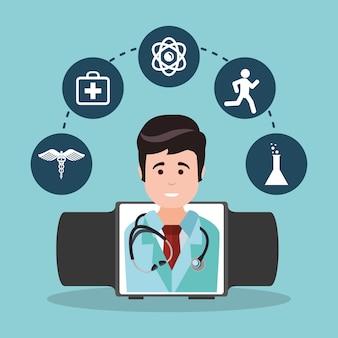 Medicina tecnologia wearable médico
