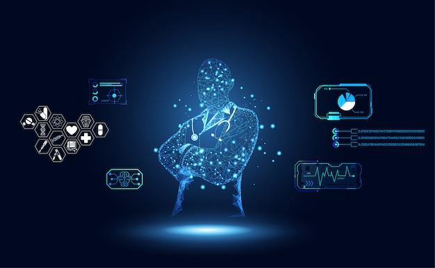 Médico abstrato da ciência médica da saúde