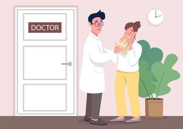 Médico com ilustração de conceito plana paciente