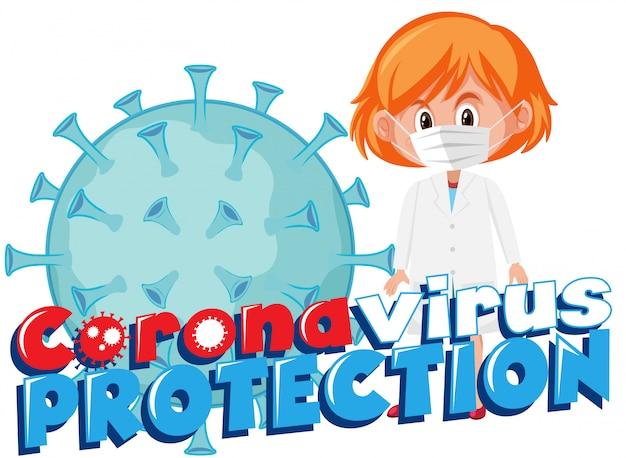 Médico com sinal de vírus corona