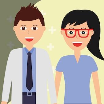 Médico e cirurgião feminino saúde e ocupação médica