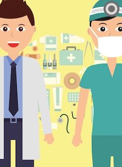 Médico e dentista especialista em profissão médica