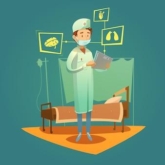 Médico e diagnóstico de alta tecnologia de saúde
