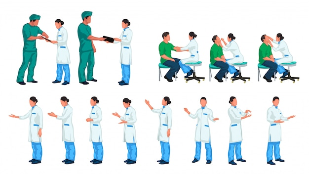 Médico e paciente em conjunto