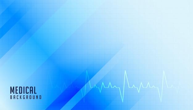 Médico em estilo de tema de saúde azul