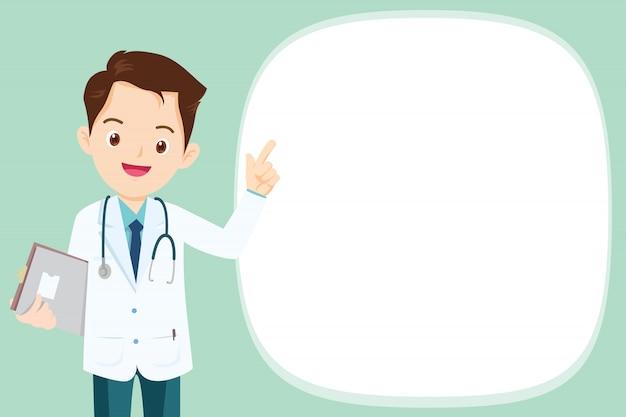 Médico presente com espaço vazio