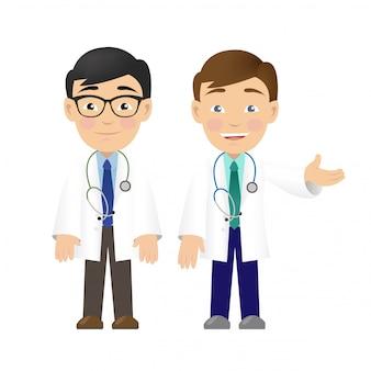 Médico profissional dois isolado