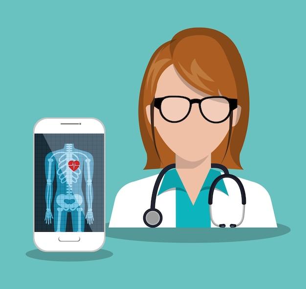 Médico radiografia digital de saúde