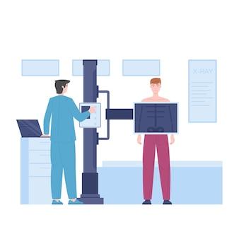 Médico radiologista ilustração pneumologista