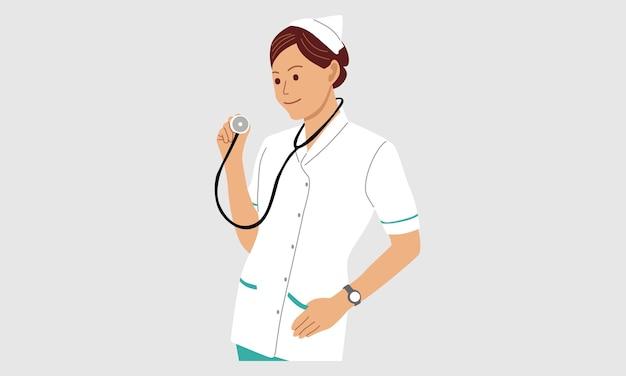 Médico segurando um estetoscópio