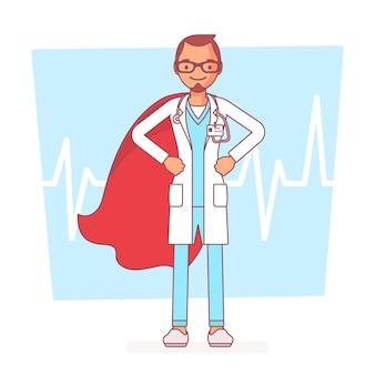Médico super masculino