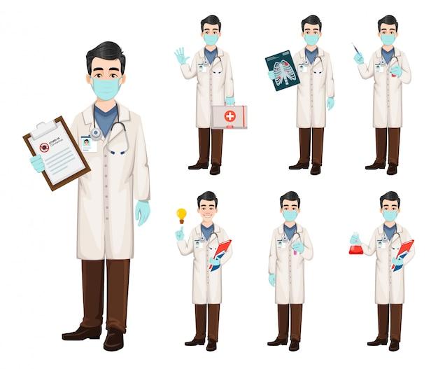 Médico trabalhando durante surto de coronavírus