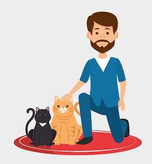 Médico veterinário com caráter de mascote