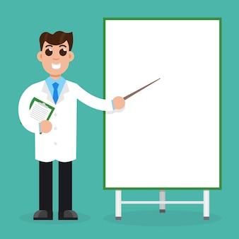 Médicos com quadro de apresentação.