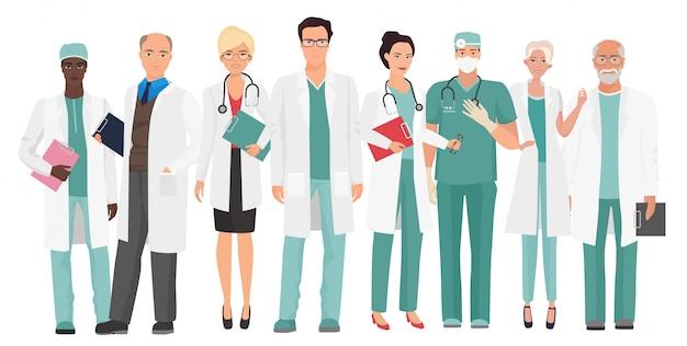 Médicos da equipe médica do hospital
