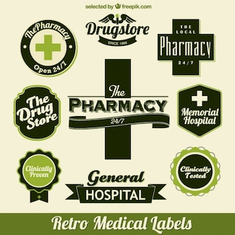 Médicos etiquetas verdes
