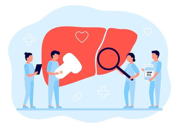 Médicos fazendo pesquisas médicas para verificar a saúde