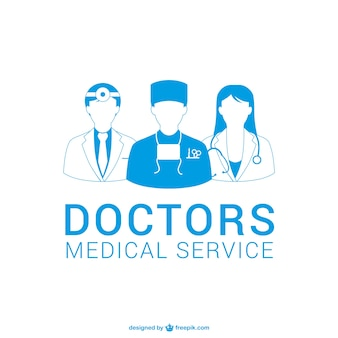 Médicos silhuetas vector